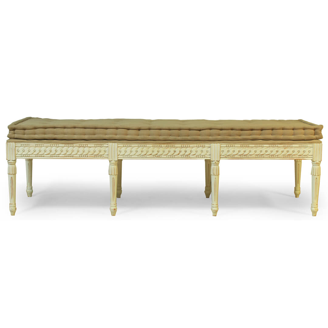 gustavian furniture style bench