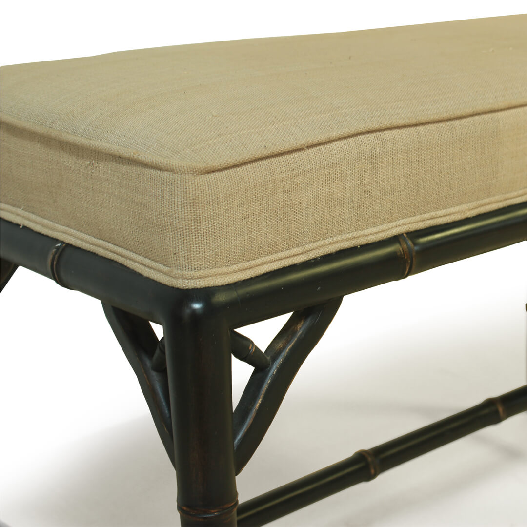 gustavian furniture style small bench detail