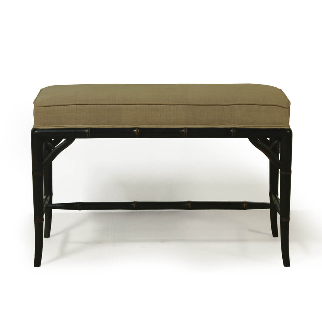 gustavian furniture style small bench front view