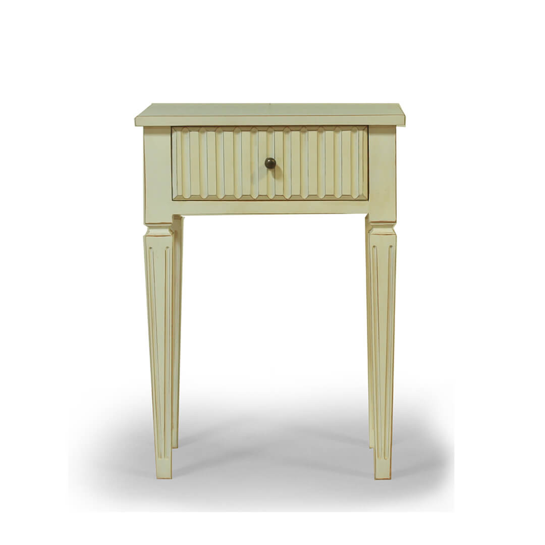 gustavian furniture white bedside 2nd model