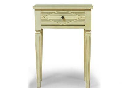 Antique White Painted Gustavian Bedside