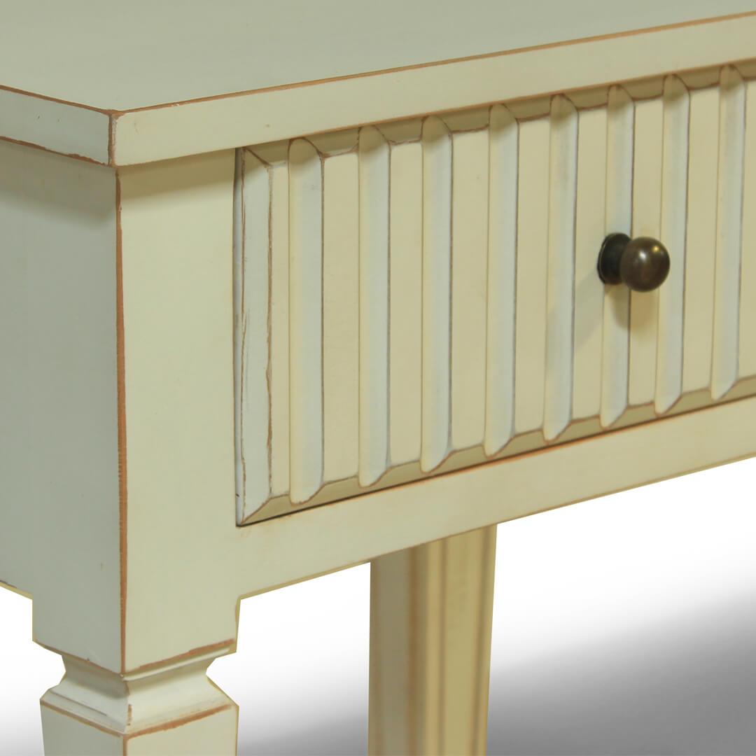 gustavian furniture white bedside detail