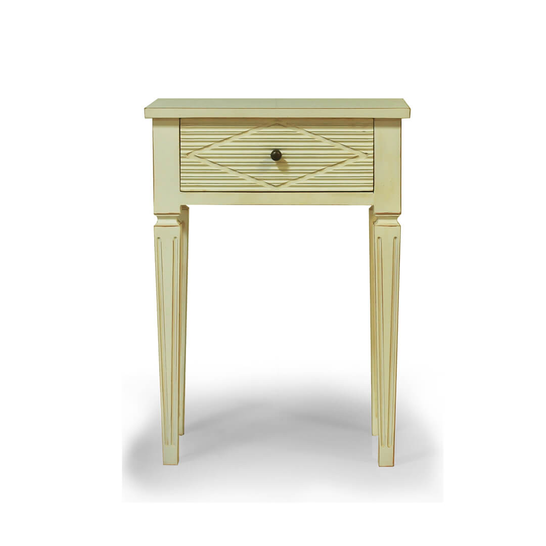 gustavian furniture white bedside