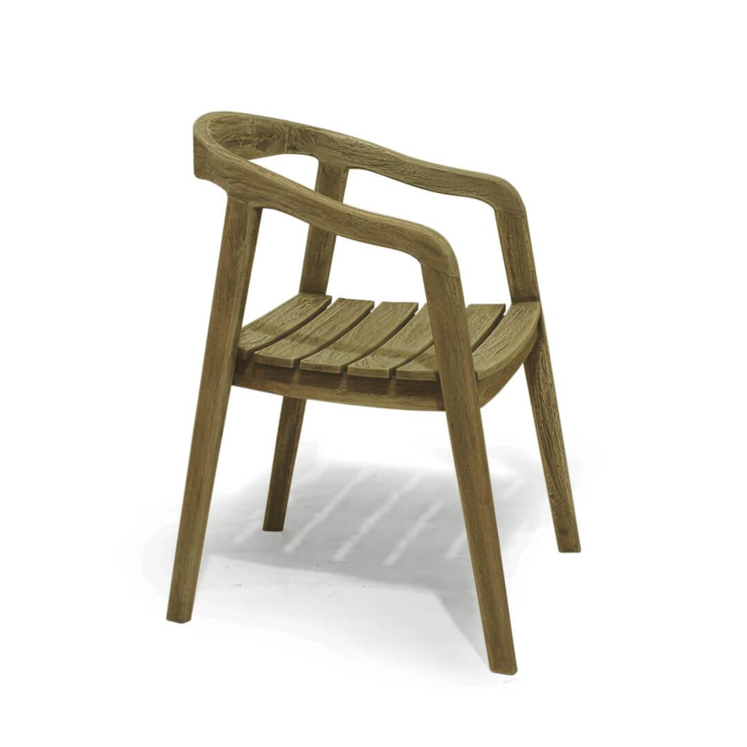 reclaimed teak wood dining chair