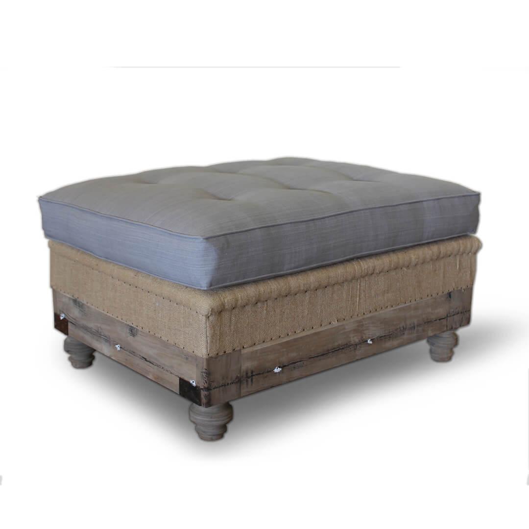 reclaimed teak wood stool