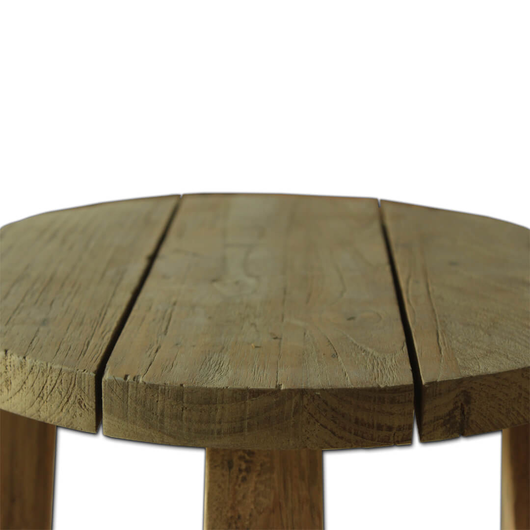 recycle teak wood stool detail