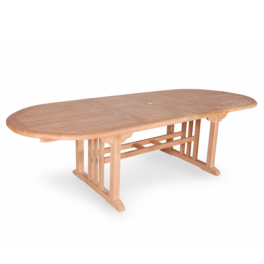 Buy Teak Oval Double Extension Table From Indonesia For Best Price - Teak oval extension dining table