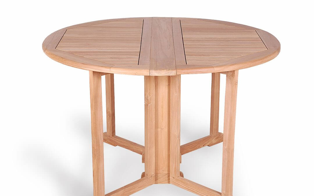 Teak Round Butterfly Folding Table