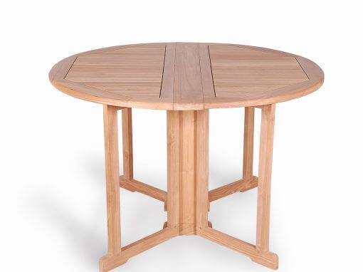 Teak Round Butterfly Folding Table
