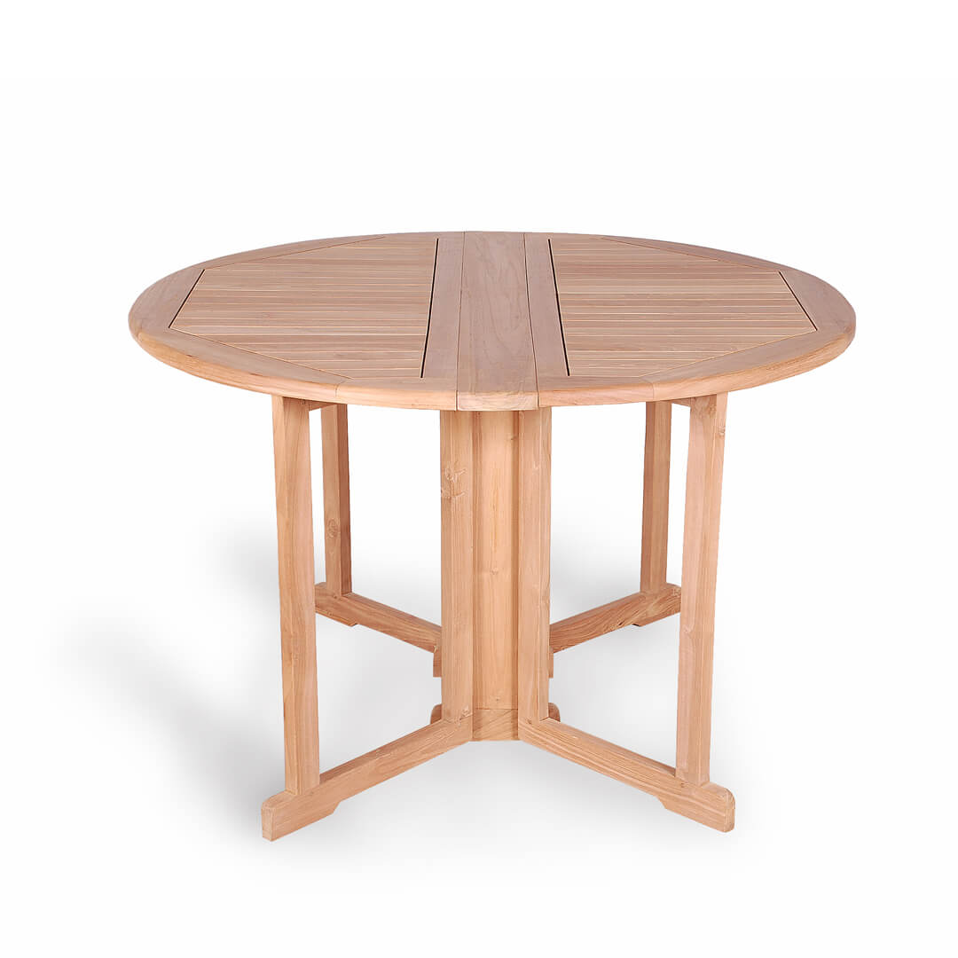 teak outdoor folding round table
