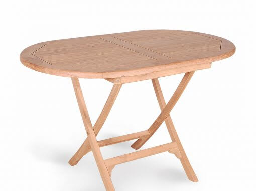 Teak Oval Folding Table For Outdoor