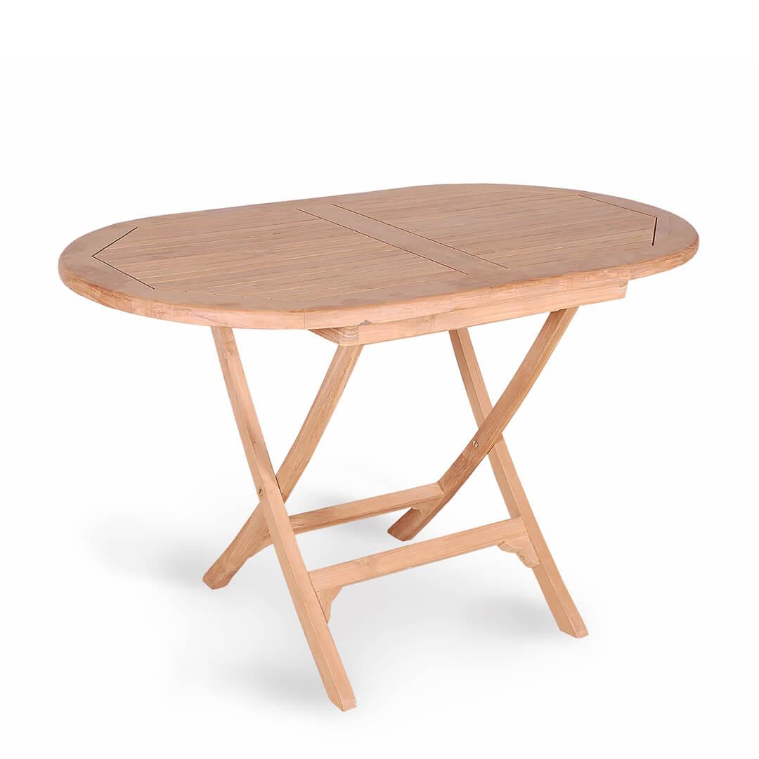 teak outdoor folding table oval