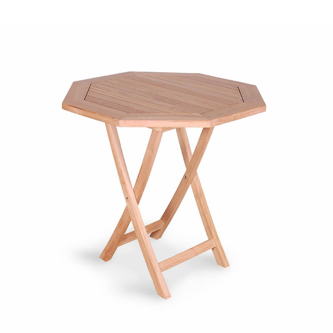 teak outdoor octagona folding table