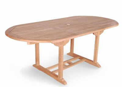 Teak Oval Extension Table For Outdoor