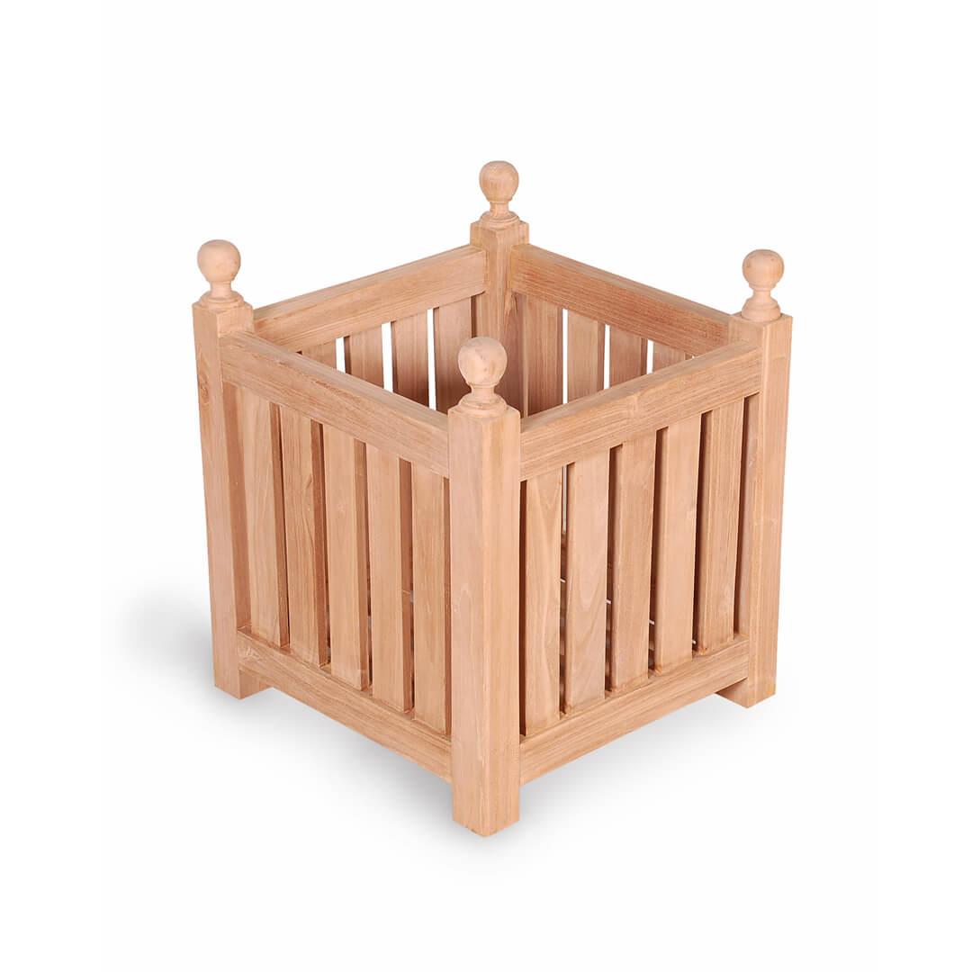 teak outdoor planter box large