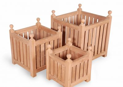 Teak Planter Box Set of Three