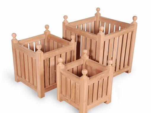 Teak Planter Box Set of Three