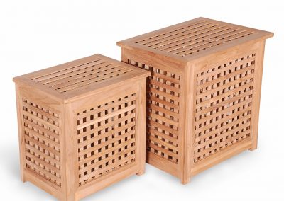 Teak Loundry Box For Swimming Pool