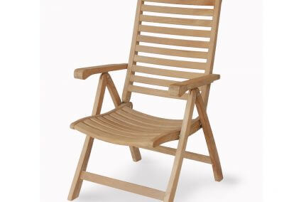 Teak Outdoor 5 Position Reclining Chair