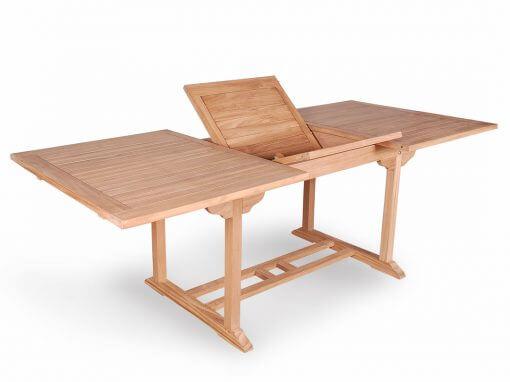Teak Outdoor Rectangular Extension Table