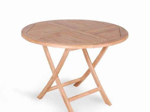 Teak Garden Round Folding Table