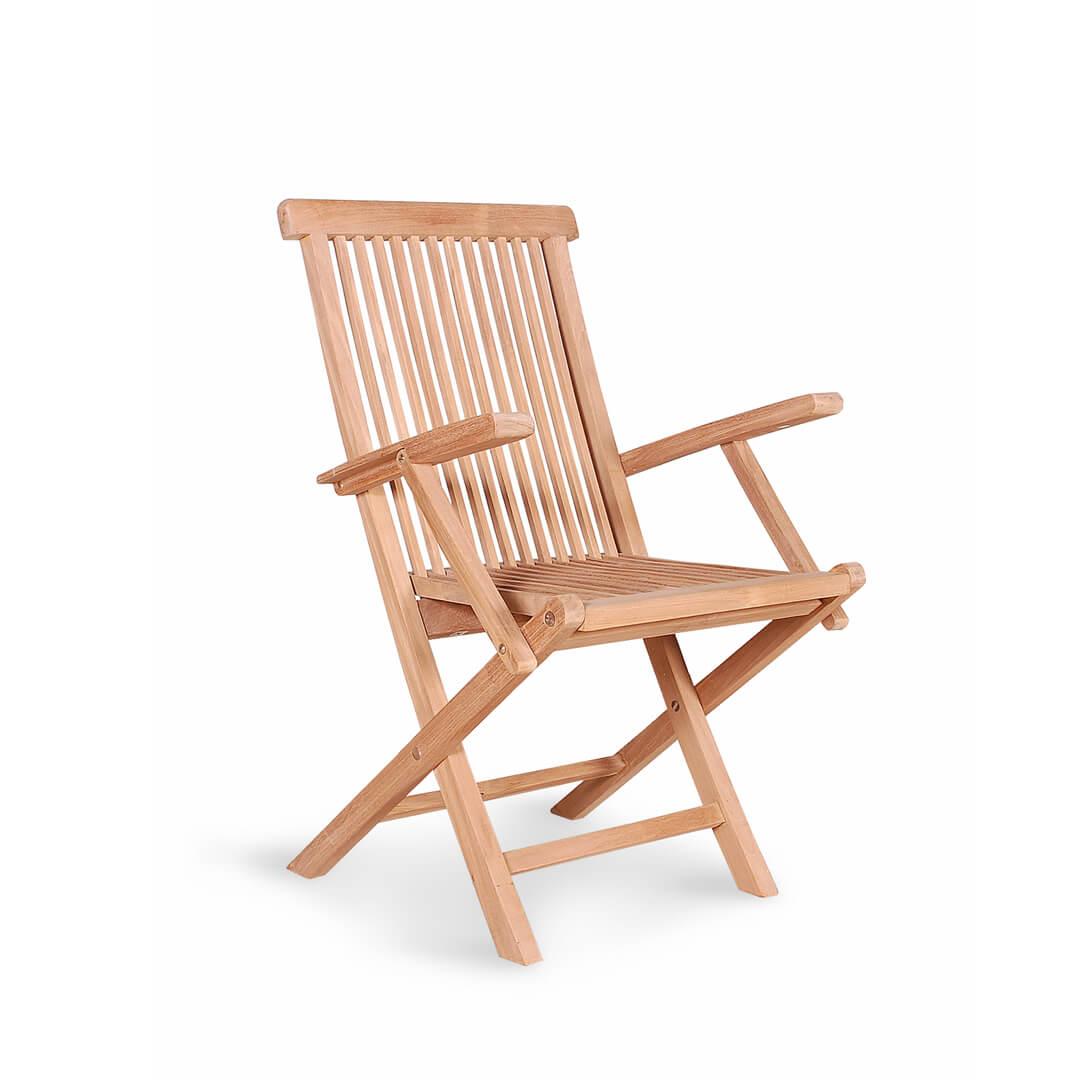 teak outdoor standard folding armchairs