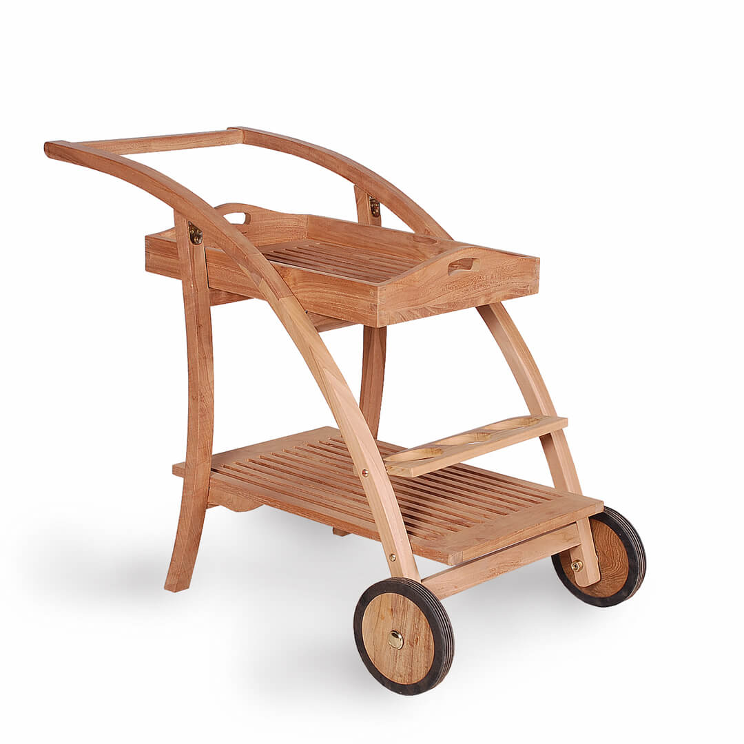teak outdoor trolley