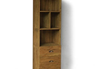 Teak Reclaimed Wood Small Display Cabinets