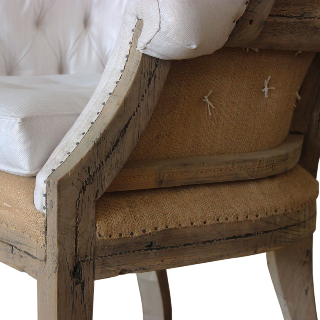 deconstructed wingback sofa