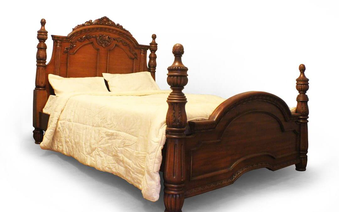 Antique Victorian Four Poster Bed