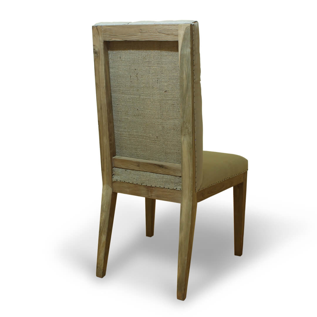 Teak Recycle Wood Dining Chairs back View