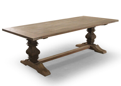 Country Distressed Teak Recycle Dining Table