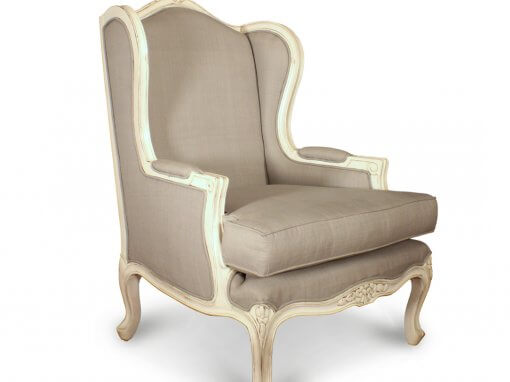 Antique French Style Wingback Chairs