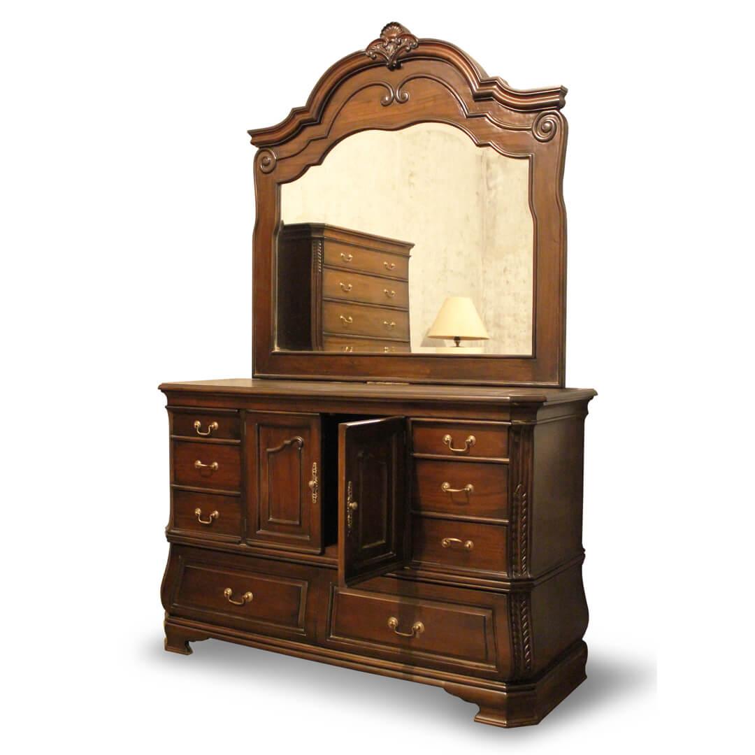 antique victorian dressing table door open
