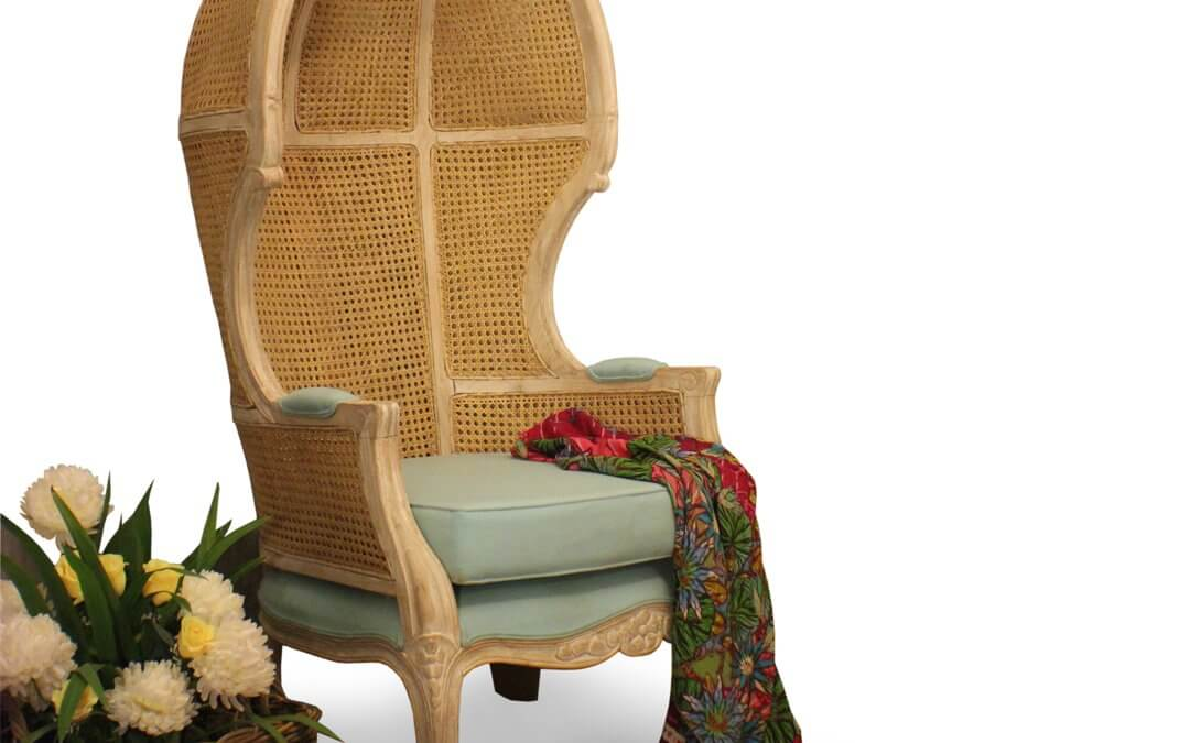 Cane Woven Canopy Chairs