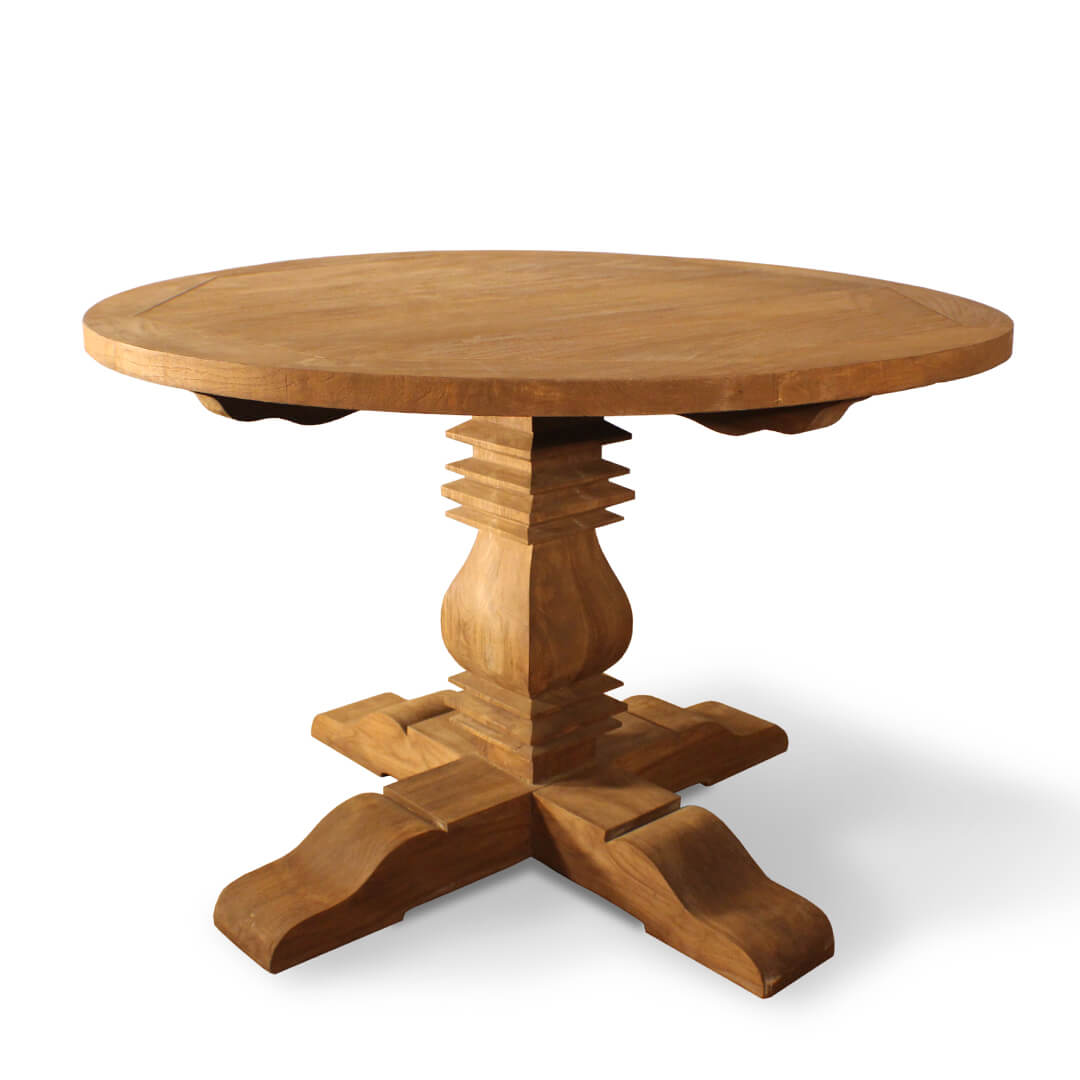 Country Style Teak Round Dining Table