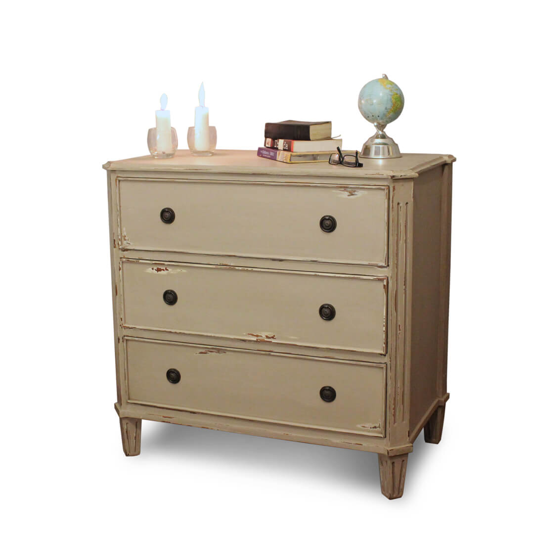 gustavian style chest of drawers grey
