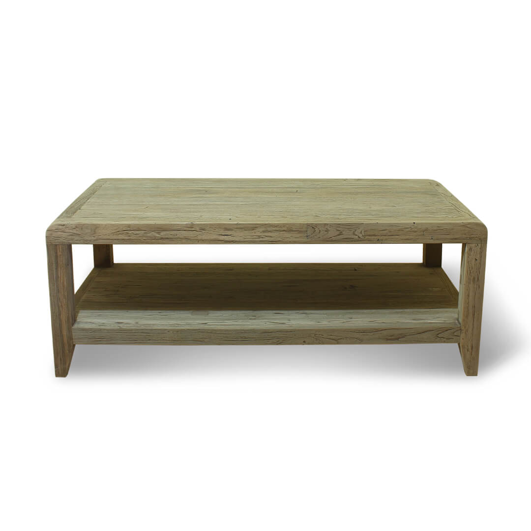 simple design coffee table side view