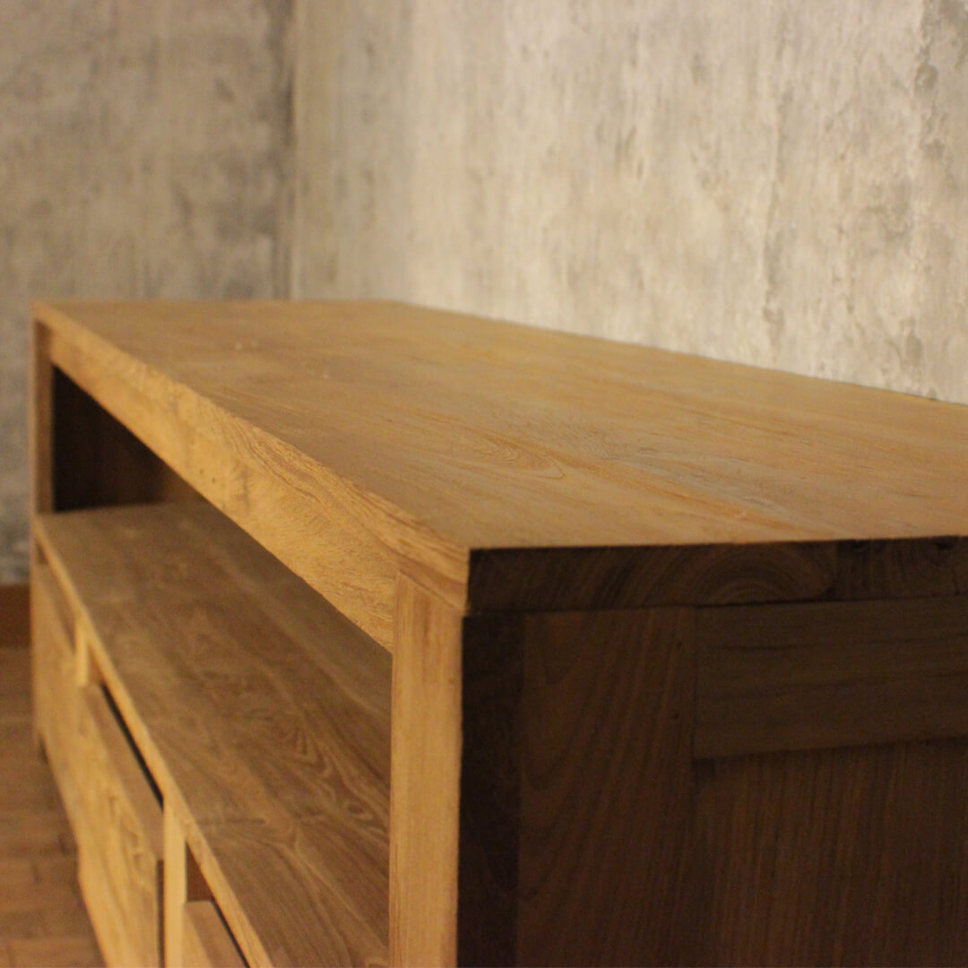 tv cabinets recycle teak detail