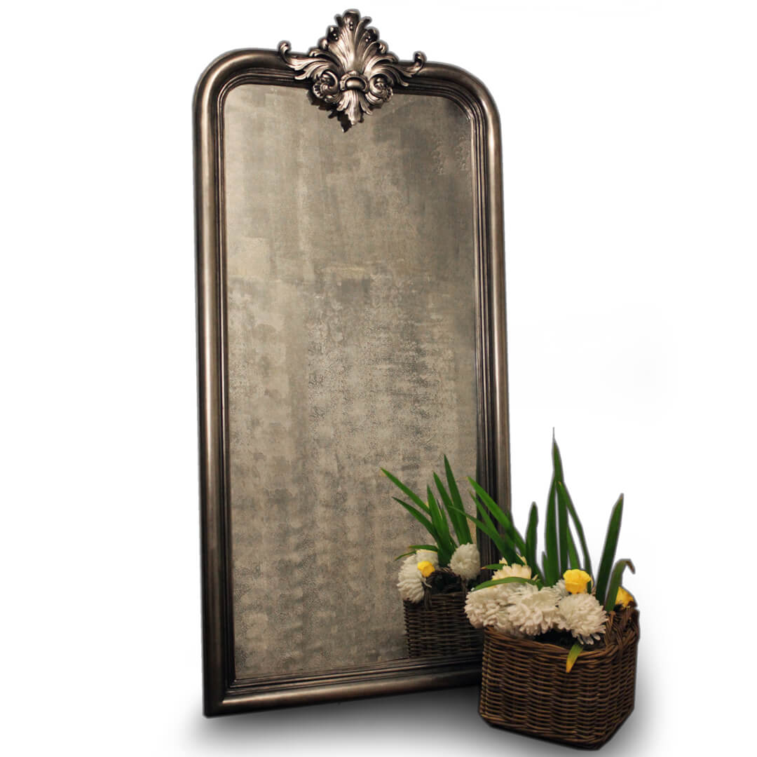 Silver Carving Mirror
