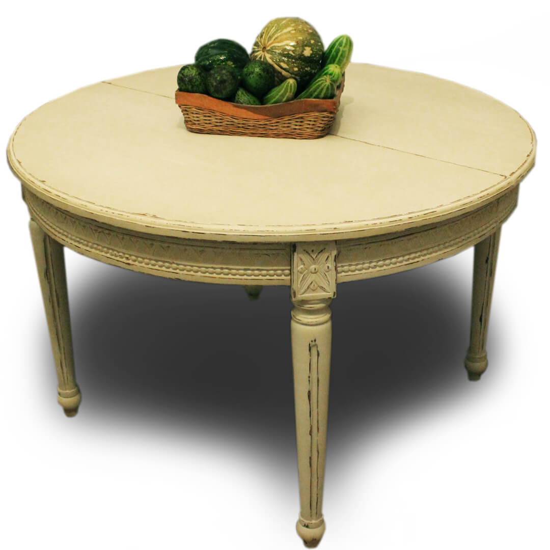 Gustavian Oval Dining Extension Table closed