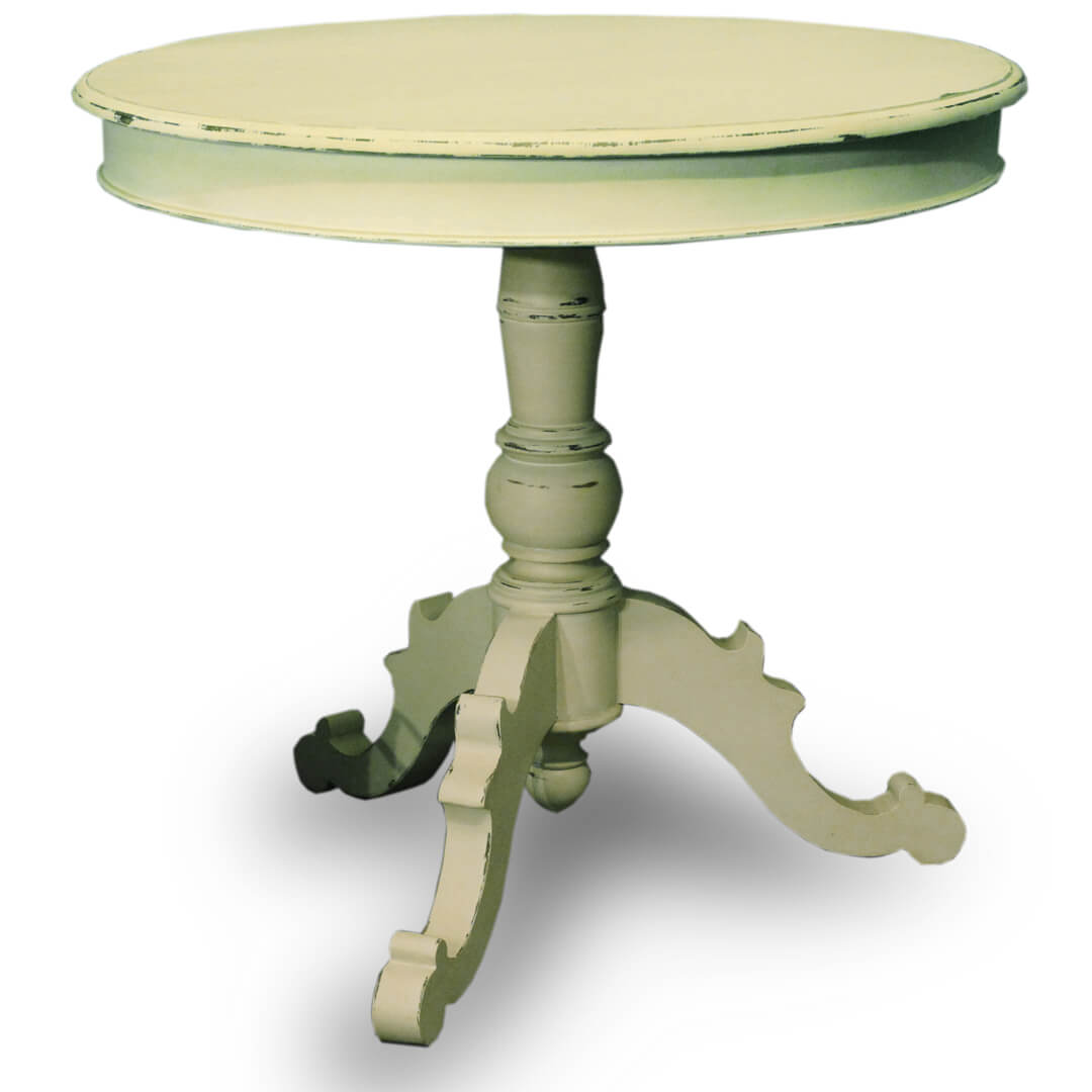 Ingrid Antique White Paint Round Table