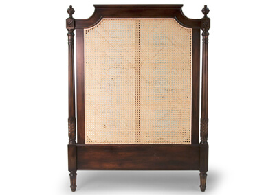 Antique Cane Woven Headboard