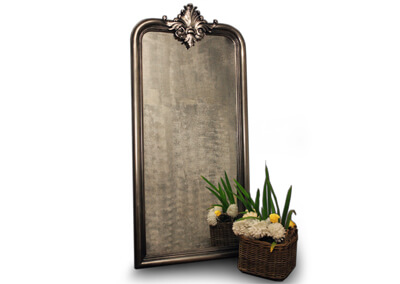 Balzac Siver Carving Mirror