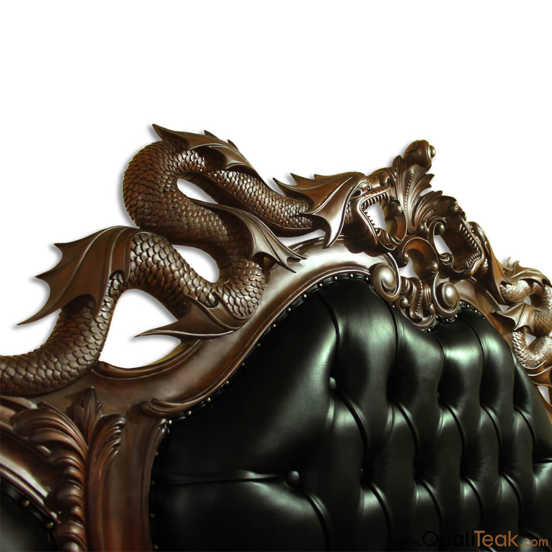 Dragon Carving Bed
