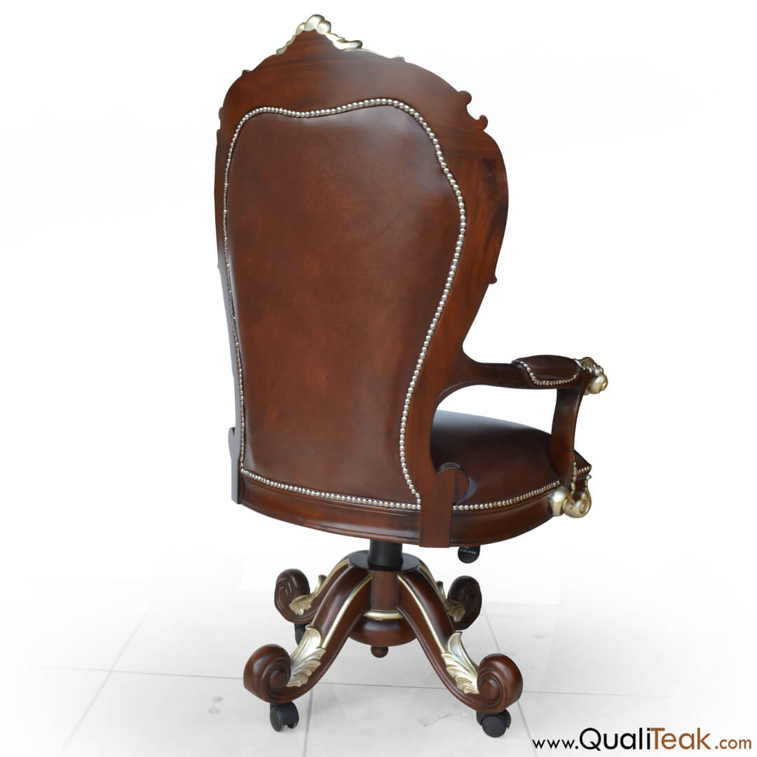 Antique Swivel Desk Chair Back View