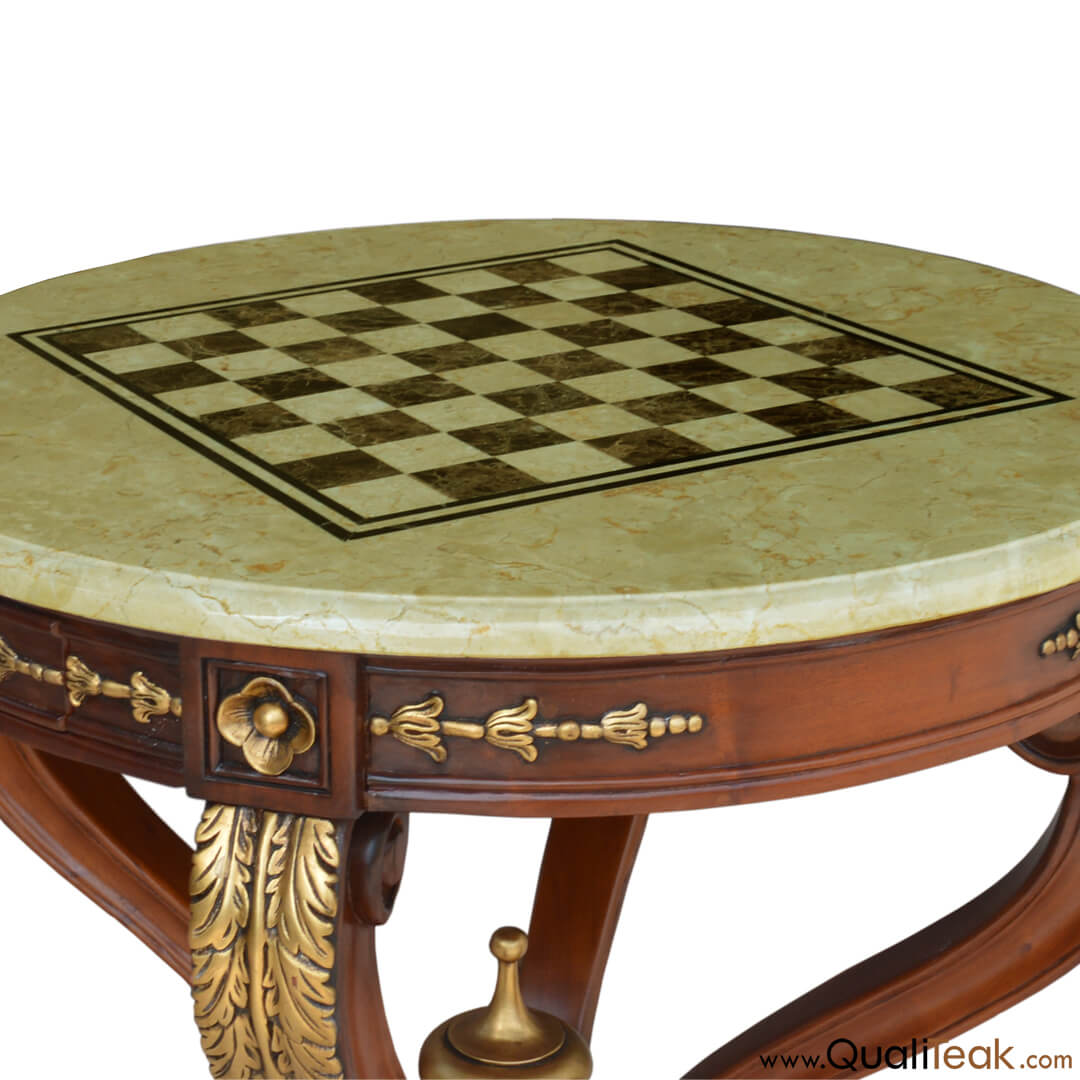 Custom Design Chess Table Detail