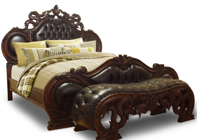 Antique Dragon Carving Bed