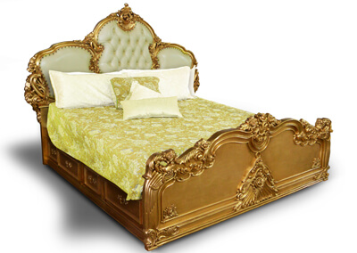 Antique Gilded Carving Bed