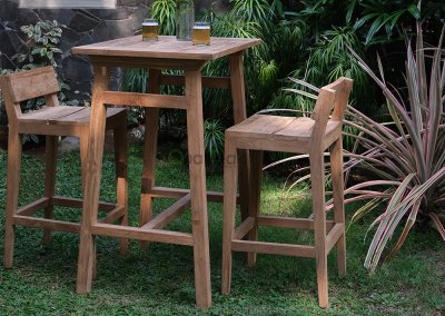 Teak Reclaimed Bar Table Moha